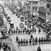 Ft Worth  WWI  Parade Postcard